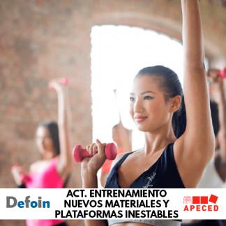 Curso sbvencionado de actividades de entrenamiento con nuevos materiales y plataformas inestables - Apeced y Defoin
