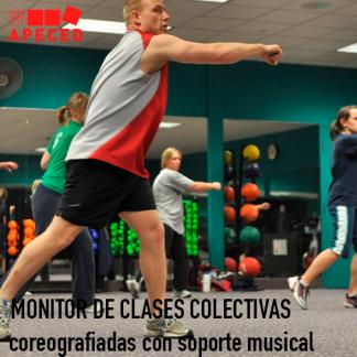 Monitor clases colectivas coreografiadas con soporte musical - Curso Apeced