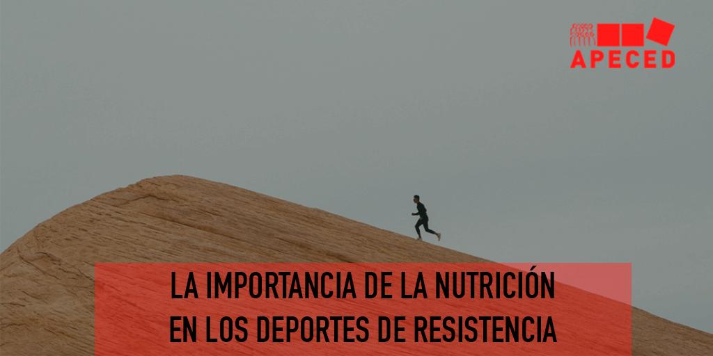 Importancia nutrición en deporte de resistencia - entrada blog Apeced