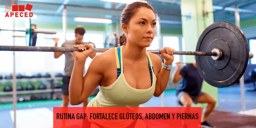 Rutina GAP: fortalece glúteos, abdomen y piernas - Entrada blog Apeced