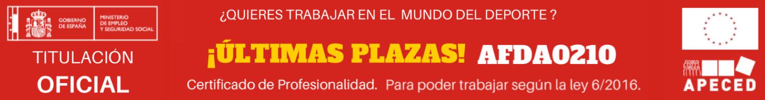Apeced Certificado Profesionalidad AFDA0210 Monitor Deportivo