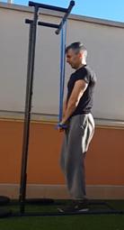 Entrenamiento con bandas elásticas - Extensión triceps