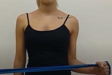 Entrenamiento con bandas elásticas - Rotaciones externas